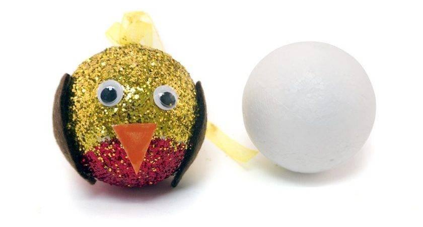 Pack Polystyrene Baubles Crafts