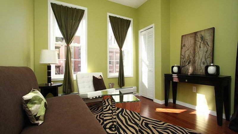 Paint Colors Living Room Walls Green Curtains