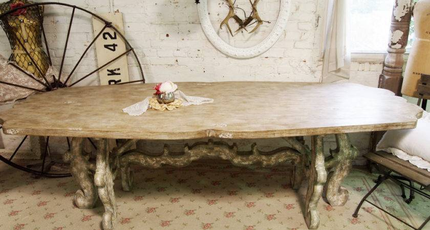 Painted Cottage Chic Shabby Farmhouse Table Paintedcottages