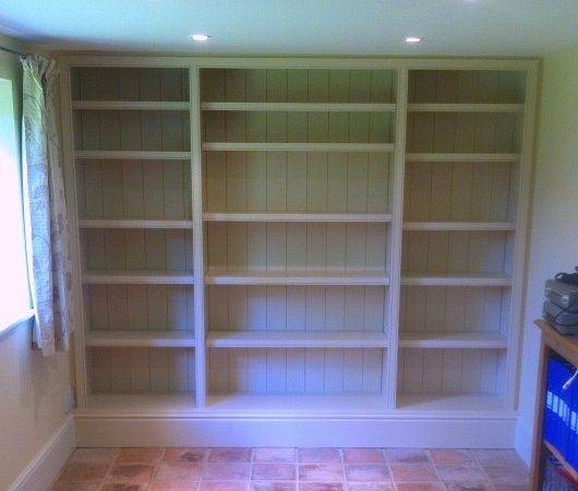 Painted Fitted Bookcase Worsley Woodworking