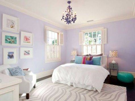 Pale Purple Teen Girl Bedroom