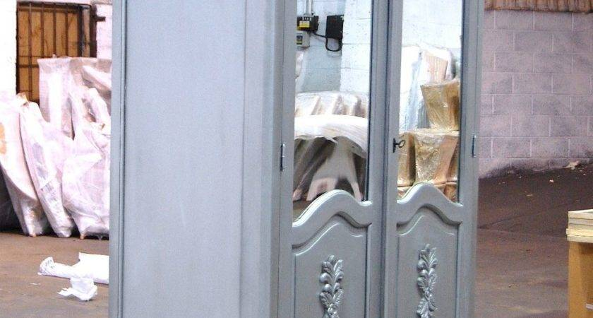 Paris Wardrobe Door Silver Shabby Chic Furniture