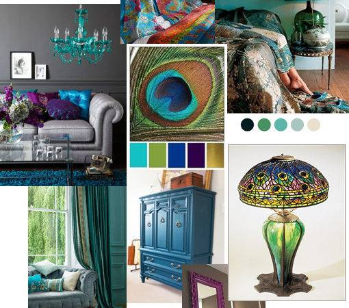 Peacock Colour Bedroom