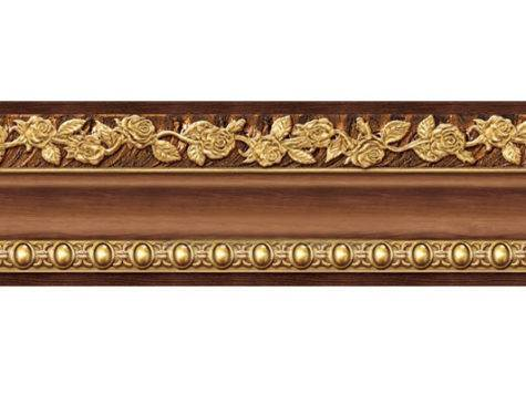 Peel Stick Wood Grain Gold Wall Moulding Border Vinyl