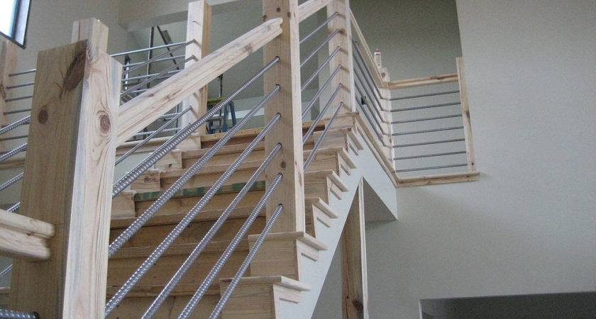 Perfect Cable Stair Railing Stairs Kitchen