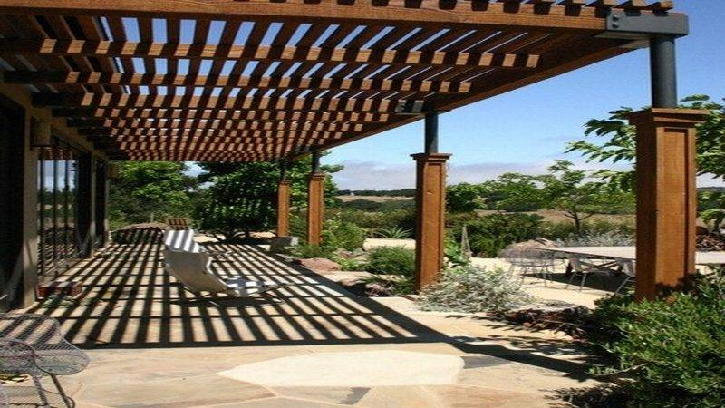 Pergola Roof Ideas Patio Design Attached