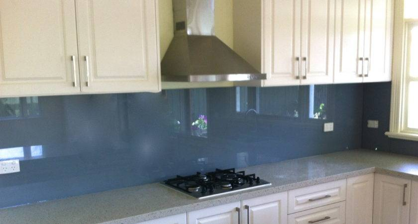 Persian Blue Glass Splashback Upstands Splashbacks