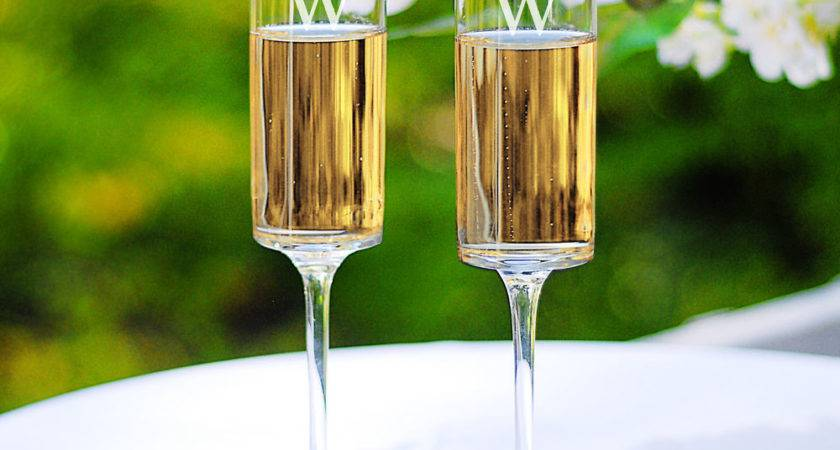 Personalized Contemporary Champagne Flutes Ebay