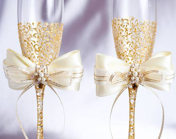 Personalized Wedding Flutes Champagne Glasses