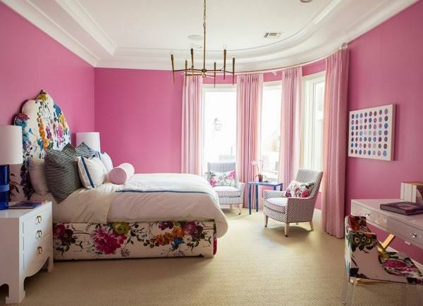 Pink Bedroom Designs Ideas Photos Decor