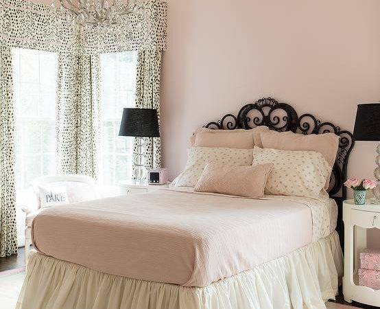 Pink Black Girls Bedroom Transitional Girl Room
