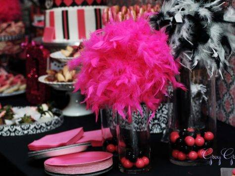 Pink Black Party Decorations Cool