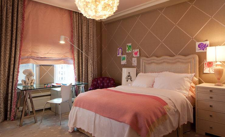 Pink Brown Girl Room Contemporary