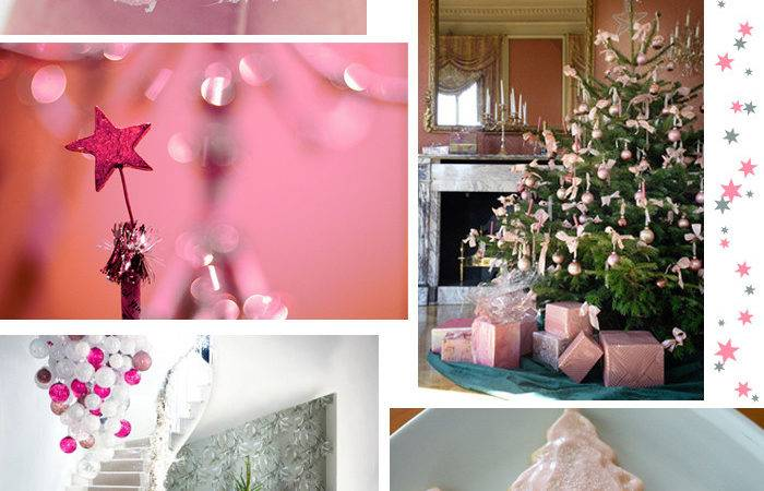 Pink Christmas Decorations Live Colorful