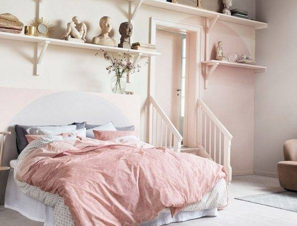 Pink Grey Bedroom Ideas