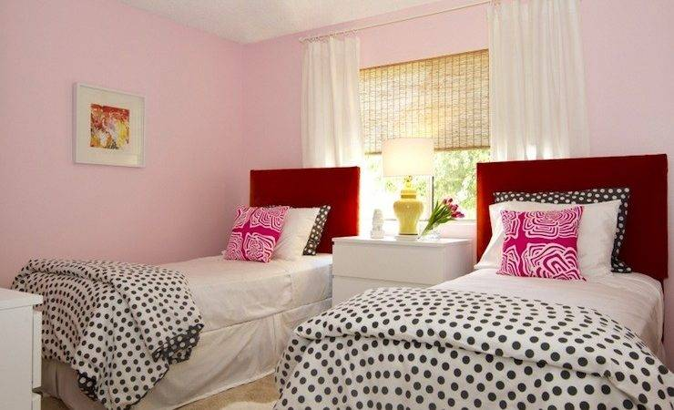Pink Red Girls Room Contemporary Girl