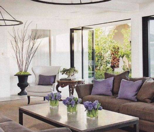 Plum Grey Brown Living Room Modern Home Design Ideas