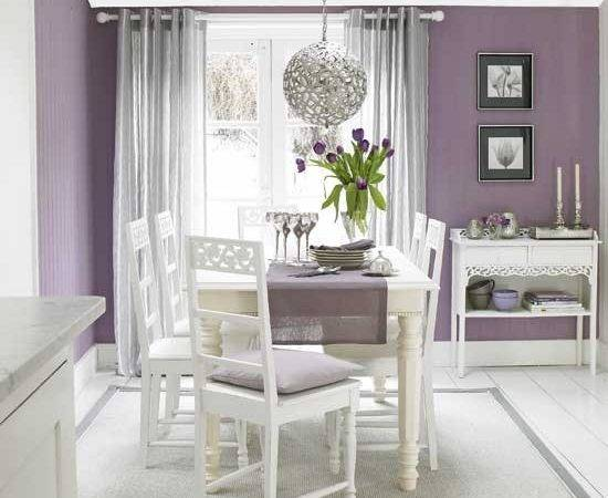 Plum Silver Dining Room Rooms