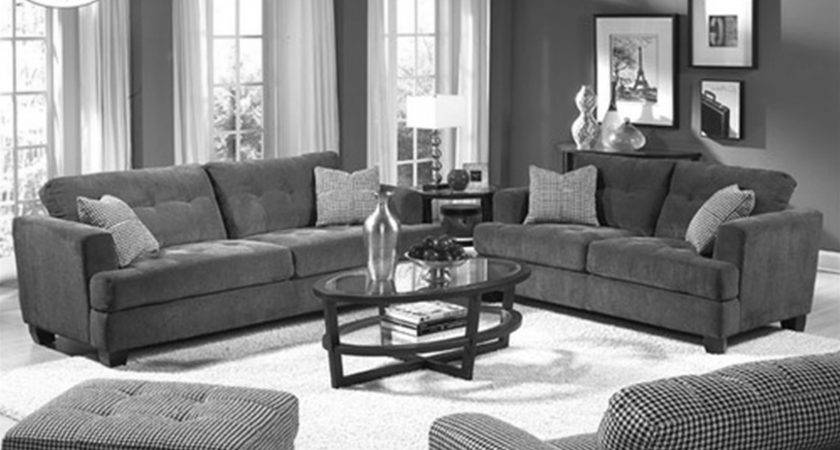 Plush Grey Themes Living Room Design Velvet Sofa