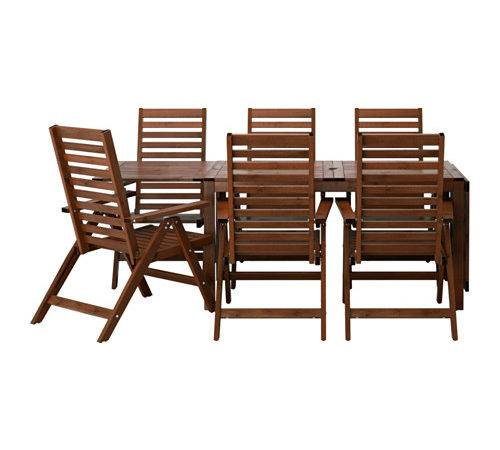 Pplar Table Reclining Chairs Outdoor Brown