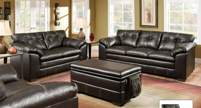 Premier Chocolate Brown Contemporary Tufted Living Room