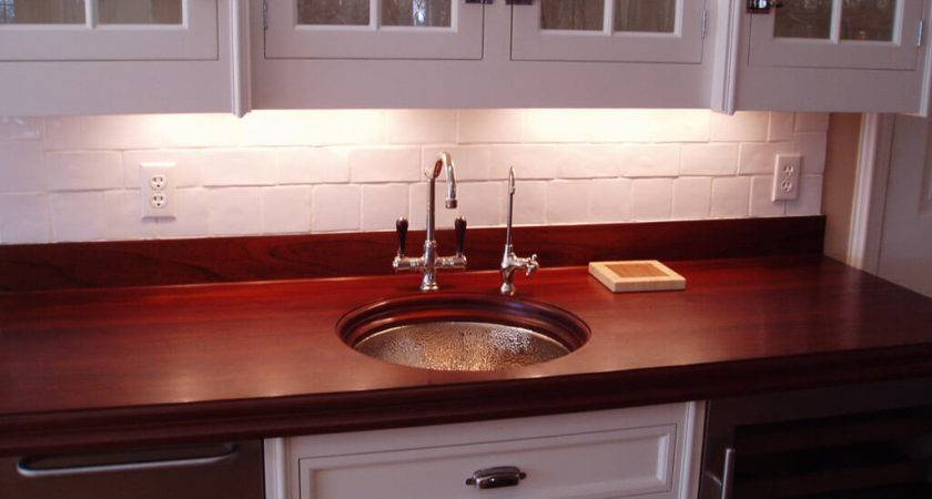 Premium Wide Plank Cherry Countertop Brooks Custom