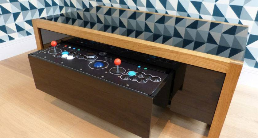 Premium Wooden Coffee Table Also Two Player