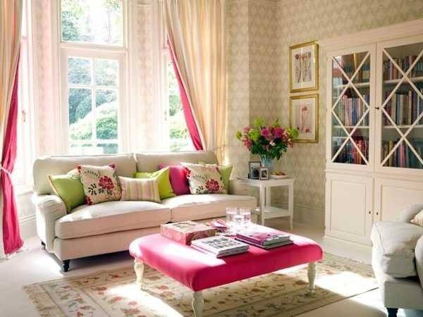 Pretty Living Room Pink Accent Photos