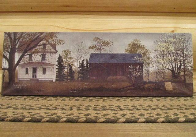 Primitive Country Rustic Large Canvas Print Billy