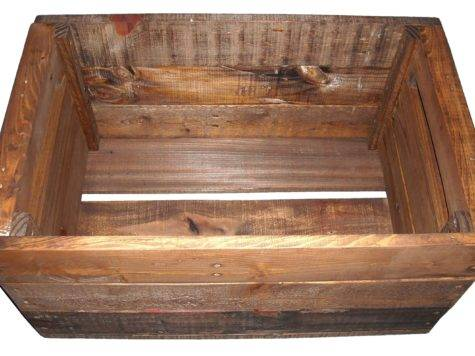 Primitive Wood Crate Heavy Duty Storage Wooden