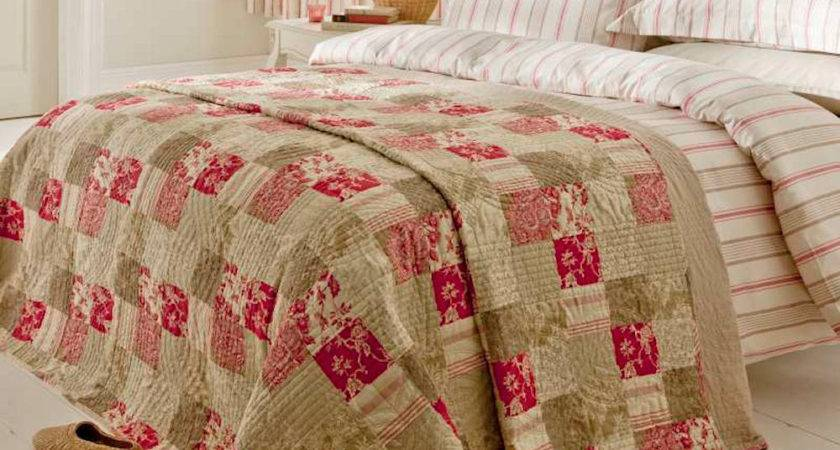 Province Count Sateen Cream Brown Red Stripe Duvet