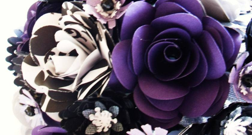 Purple Black White Bride Groom Set Wedding Event