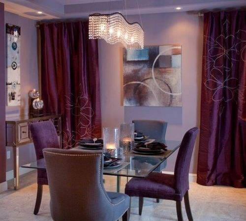Purple Curtains Shades Salon Home Design Ideas
