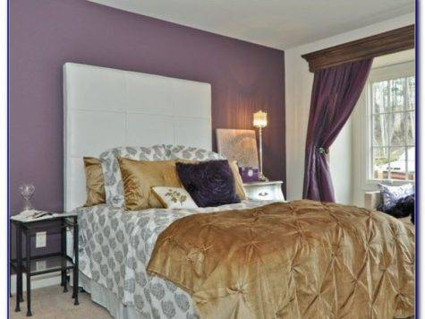 Purple Gold Bedrooms Bedroom Home Design Ideas