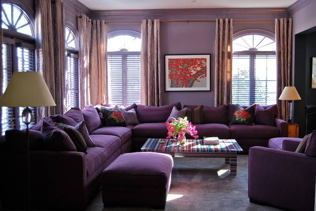 Purple Haze Modern Home Living Room