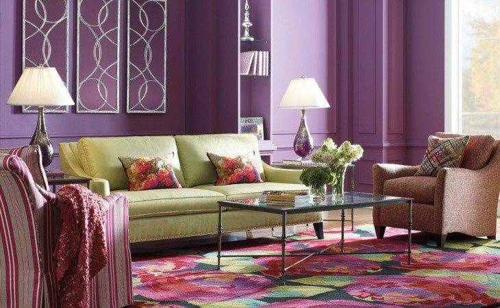 Purple Living Room Designs Ideas Design Trends