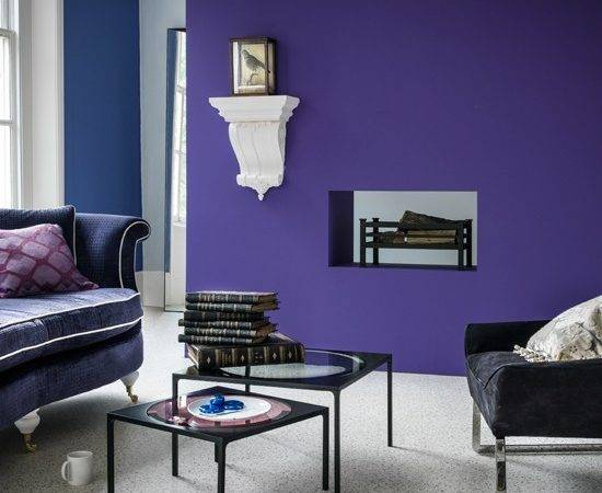 Purple Modern Living Room Housetohome