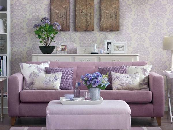Purple Small Living Rooms