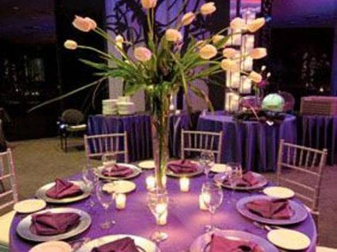 Purple Table Decoration Idea Lovely Wedding Party