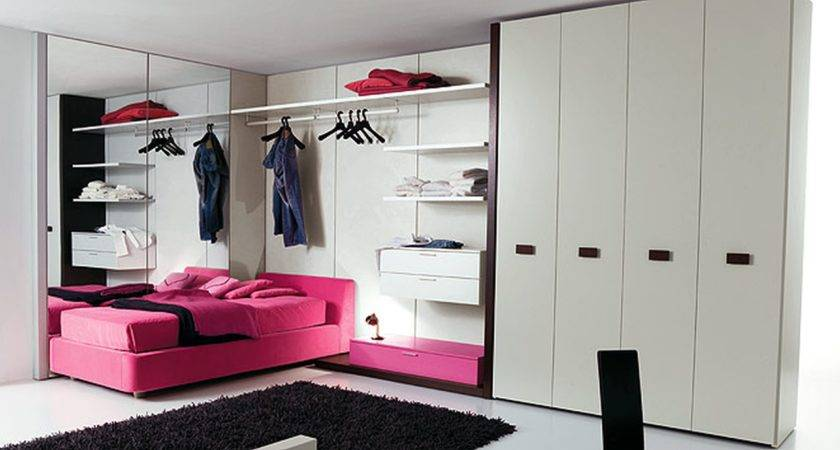 Purple Teen Bedroom Wall Themes Combined White Wooden