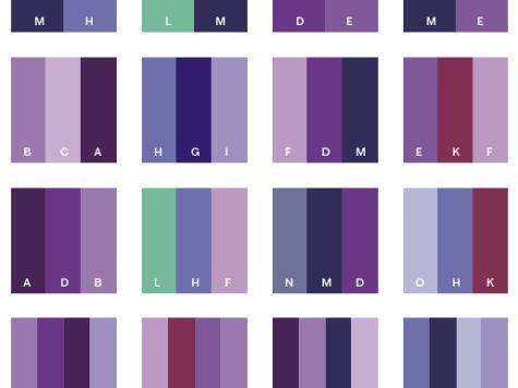 Purple Tone Color Schemes Combinations