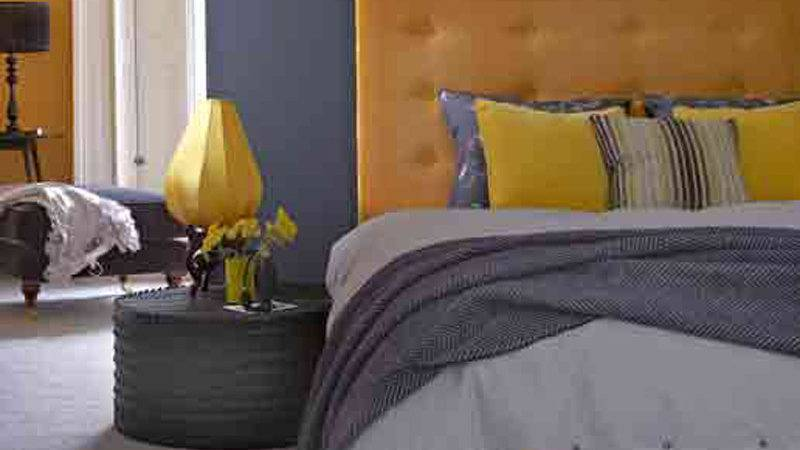 Purple Yellow Grey Bedroom Decosee