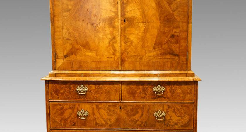 Queen Anne Walnut Fitted Cabinet Chest Now Sold