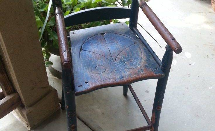 Rare Primitive Antique Youth Chair Highchair