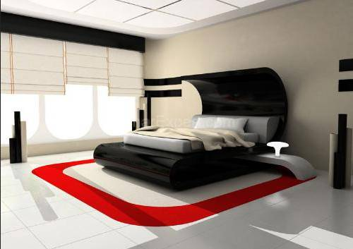 Red Black Bedroom Design Country Home Ideas