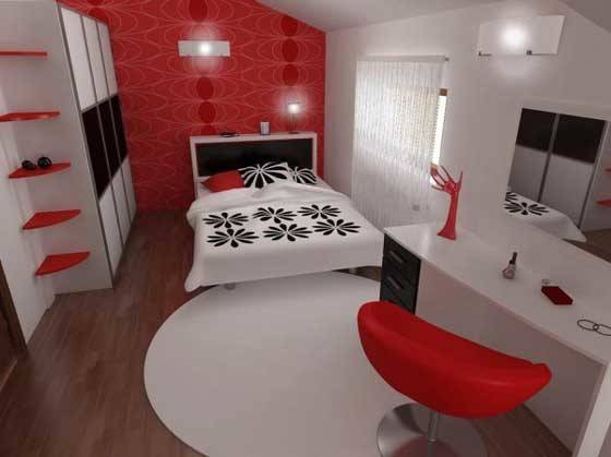 Red Black Bedroom Paint Ideas