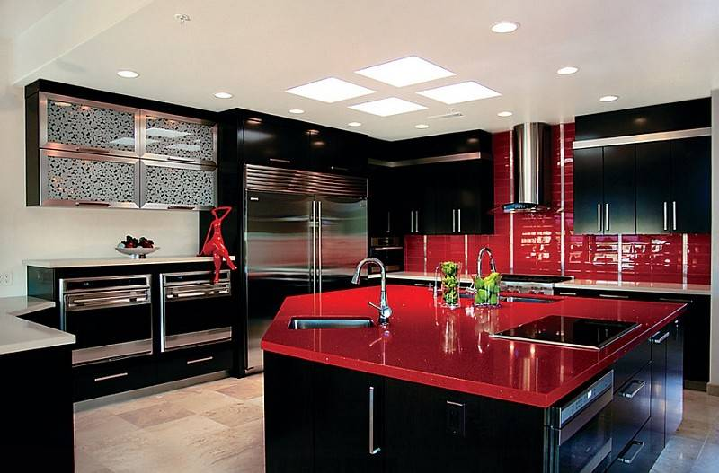 Red Black White Interiors Living Rooms Kitchens Little Big Adventure