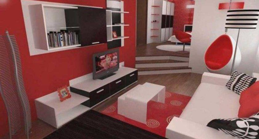 Red Black White Living Room Decorating Ideas Home