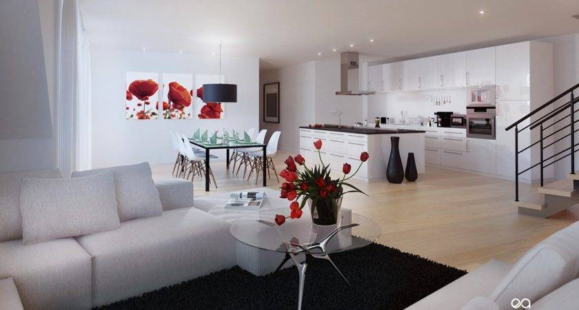 Red Black White Living Room Decorating Ideas