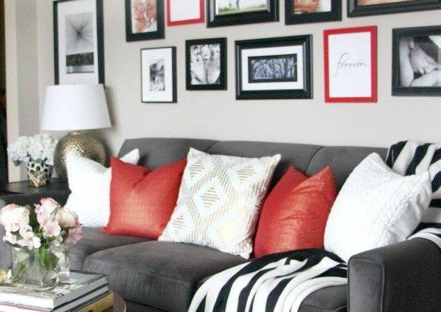 Red Black White Living Room Ideas Modern Style Home